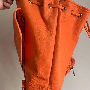 Coach Bags - Coach orange backpack